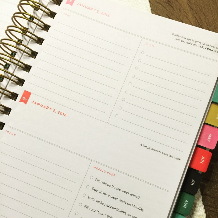 fuel sweat grow: Emily Ley Planner