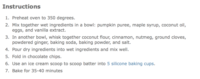 fuel sweat grow: paleo pumpkin chocolate chip muffins