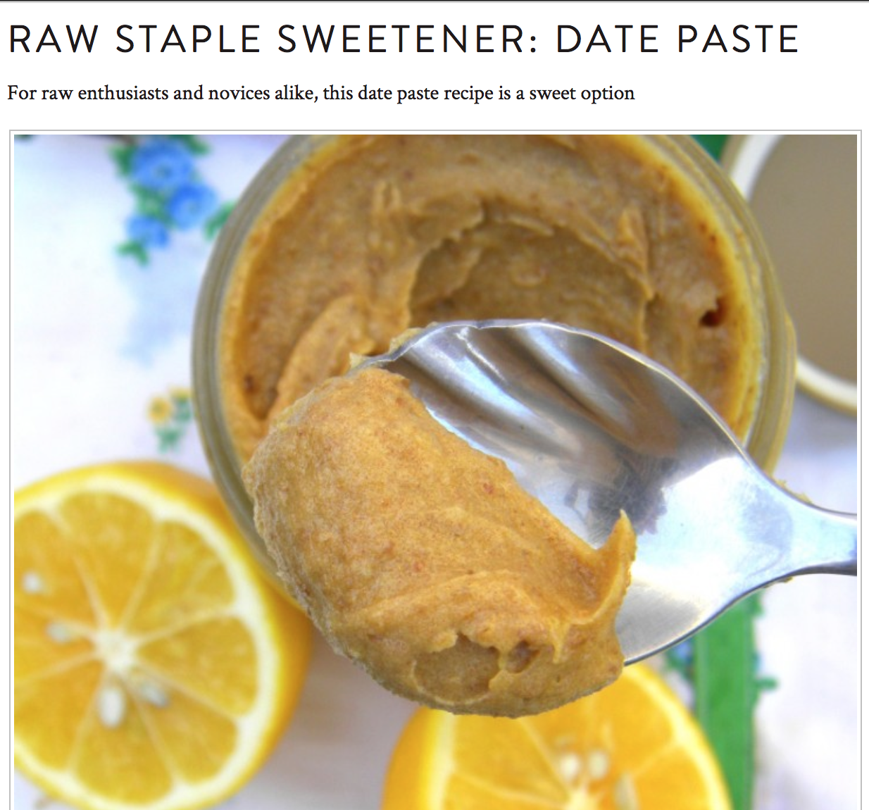 fuel sweat grow: raw date paste
